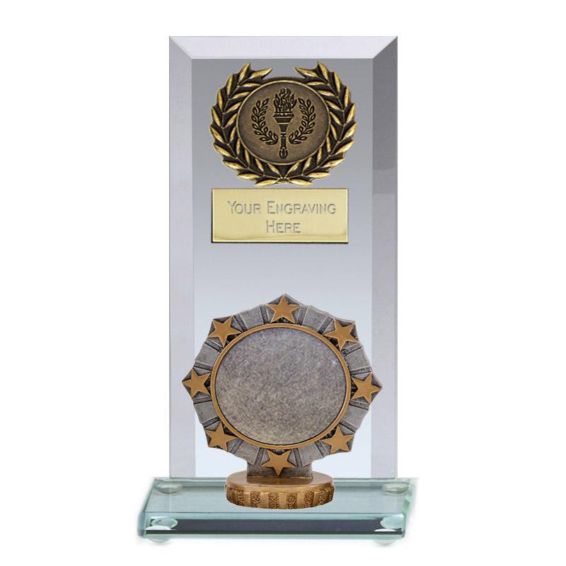 16cm Worlds Best centre Figure on Football Jade Core Award