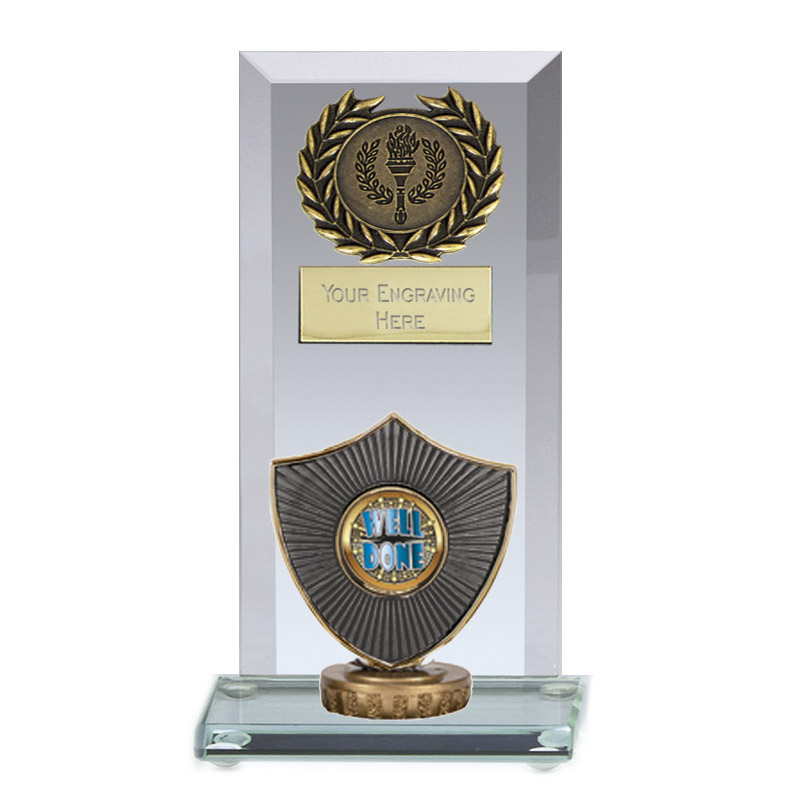 16cm Centre Shield Figure on Football Jade Core Award