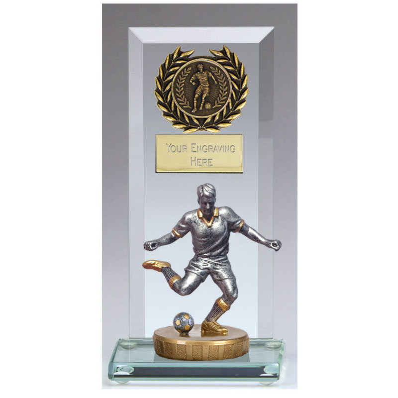 16cm Footballer Male Figure On Jade Core Award