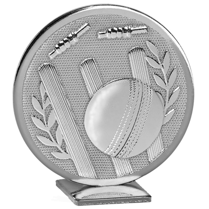 60mm Free Standing Silver Cricket Global Medal