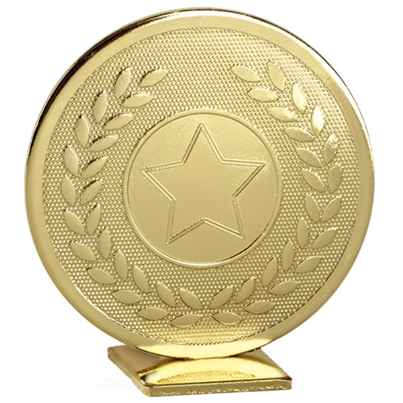 60mm Free Standing Gold Star Global Medal