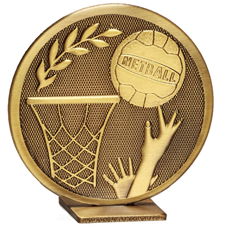 60mm Free Standing Bronze Netball Global Medal