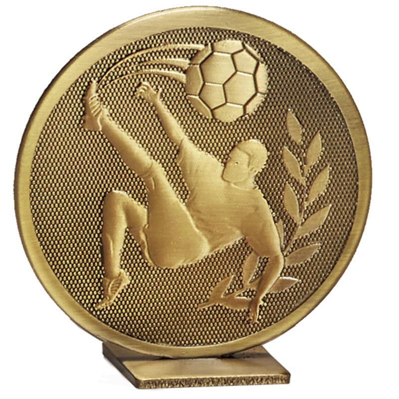60mm Free Standing Bronze Football Global Medal