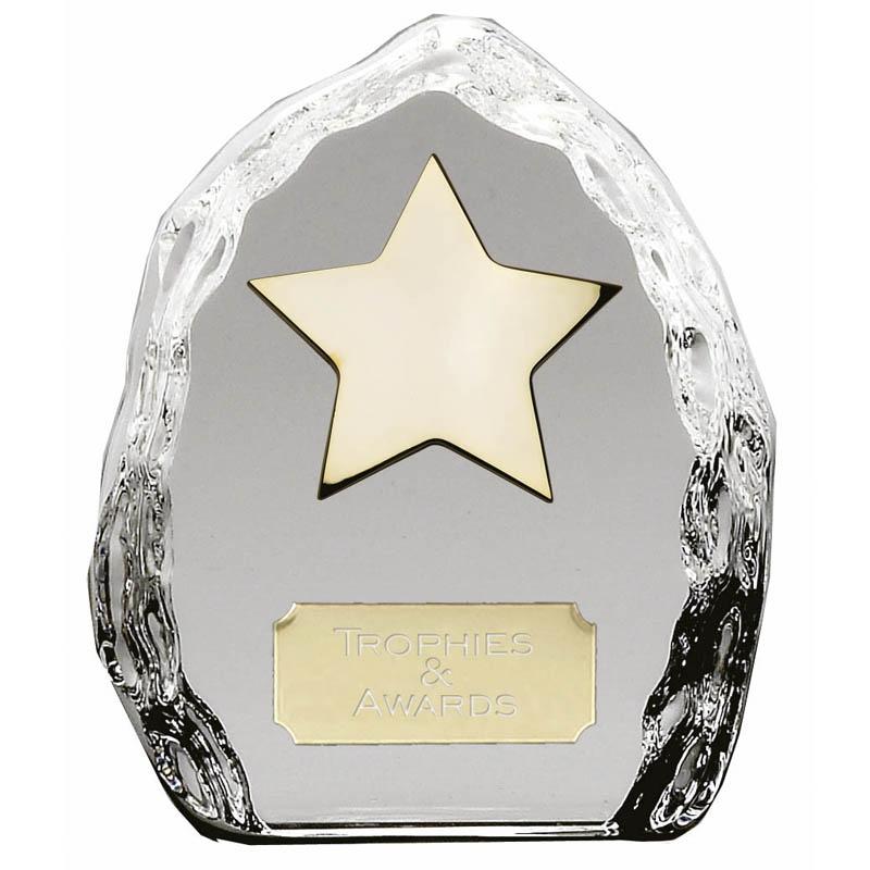 4 Inch Crystal Iceberg Star Award