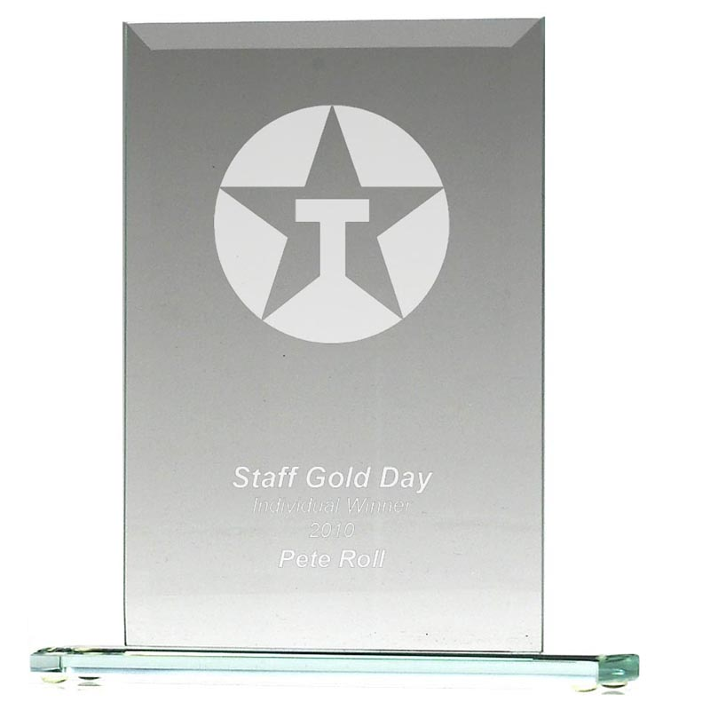 6 Inch Apex Jade Glass Award