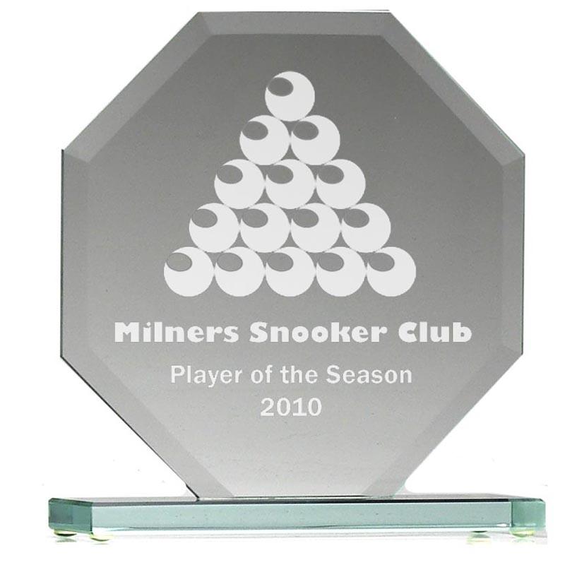 6 Inch Octagonal Plate Jade Glass Award