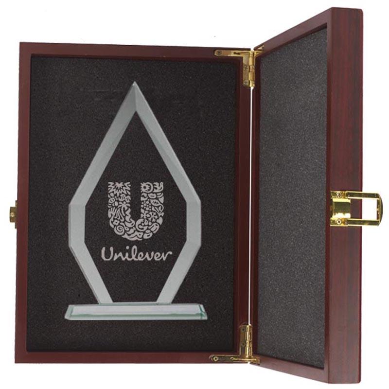 12 x 8 Inch Heptagon Flagstaff Jade Glass Award