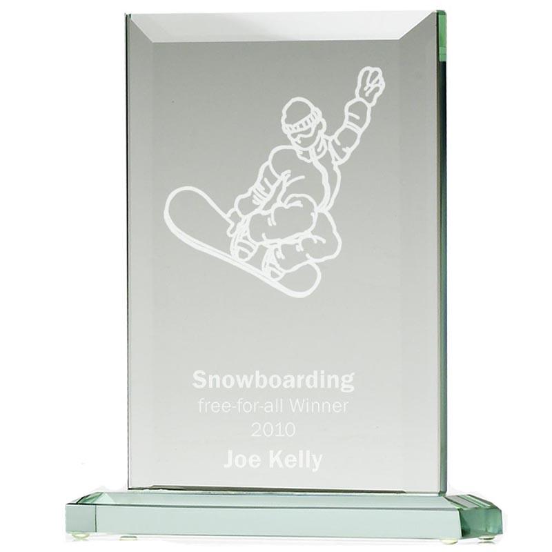 9 Inch Rectangle Heavyweight Jade Glass Award