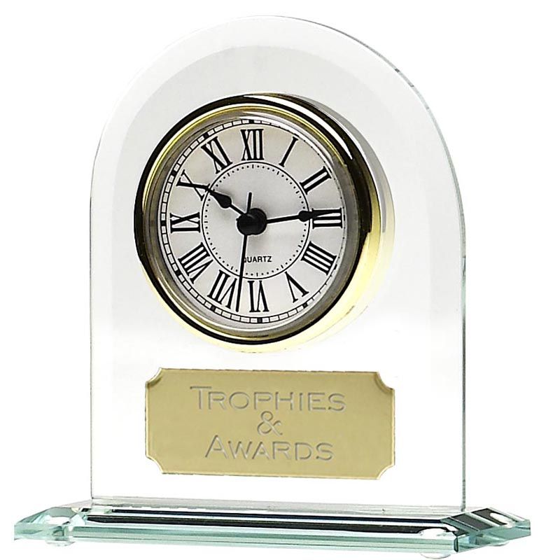 7 Inch Endurance Jade Glass Clock