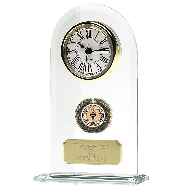 8 Inch Endurance Jade Glass Clock