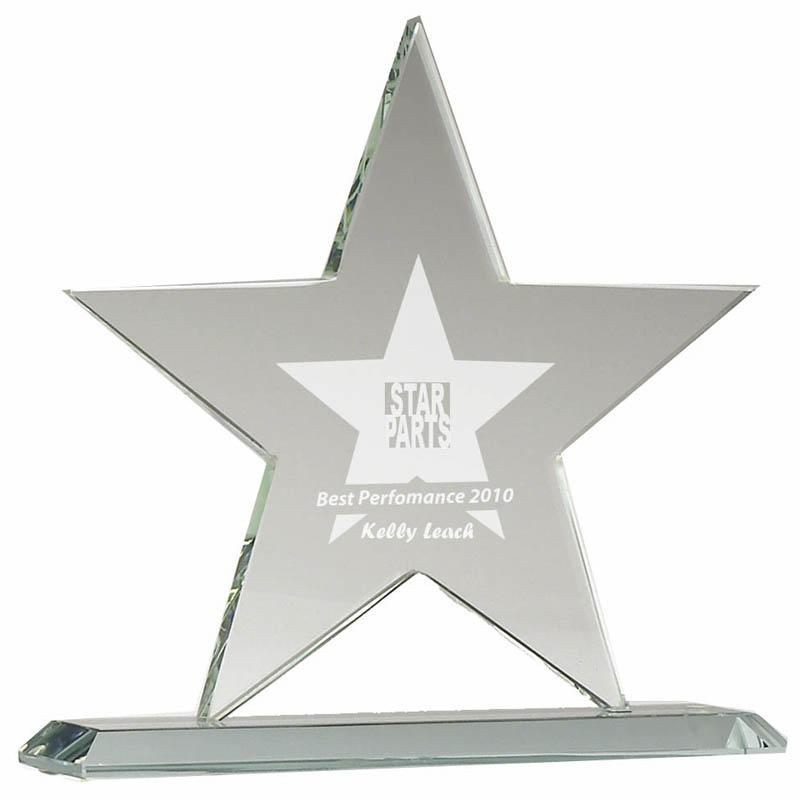 7 Inch Star Jade Glass Award