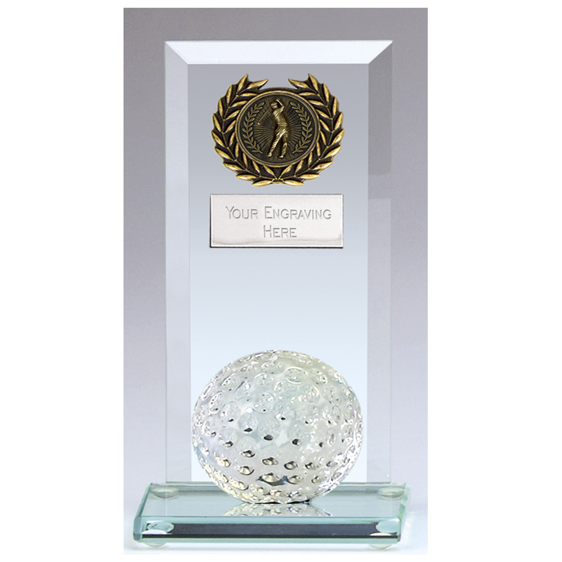 6 Inch Ball on Base Golf Core Jade Glass Award