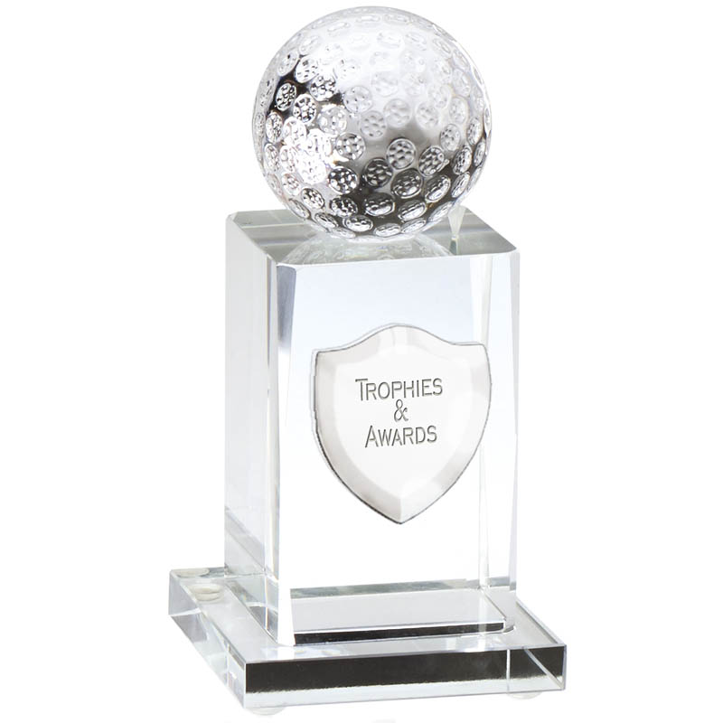 4 Inch Tall Base Golf Ball Glass Golf Award