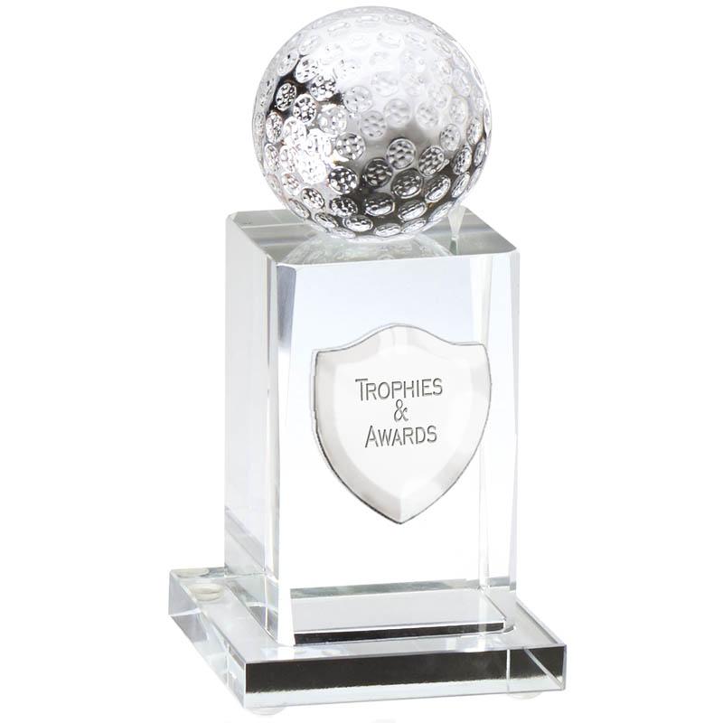 4 Inch Tall Base Golf Ball Glass Golf Award