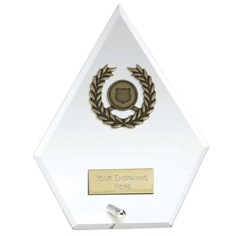 6 Inch Diamond Signal Glass Award