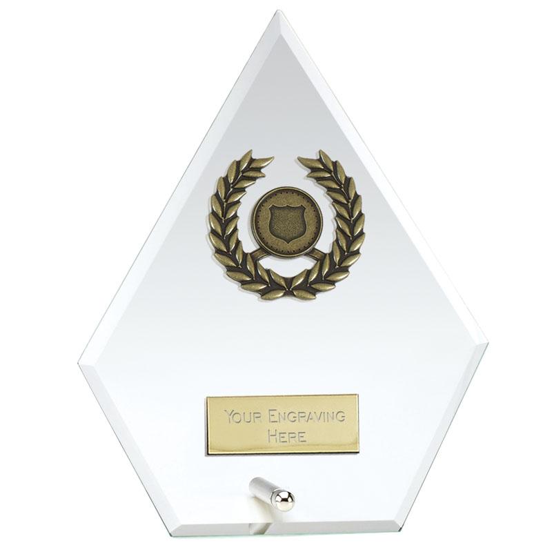 6 Inch Diamond Signal Glass Award