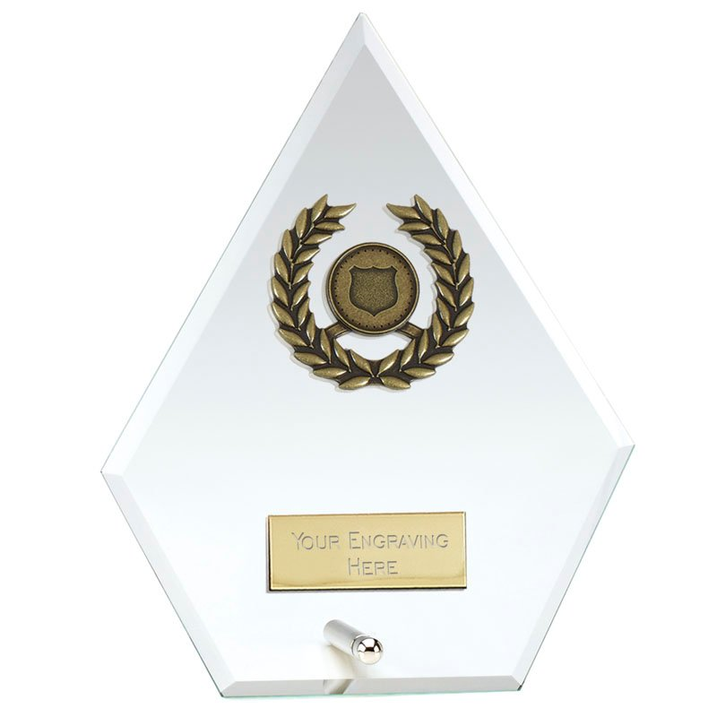 8 Inch Diamond Signal Glass Award