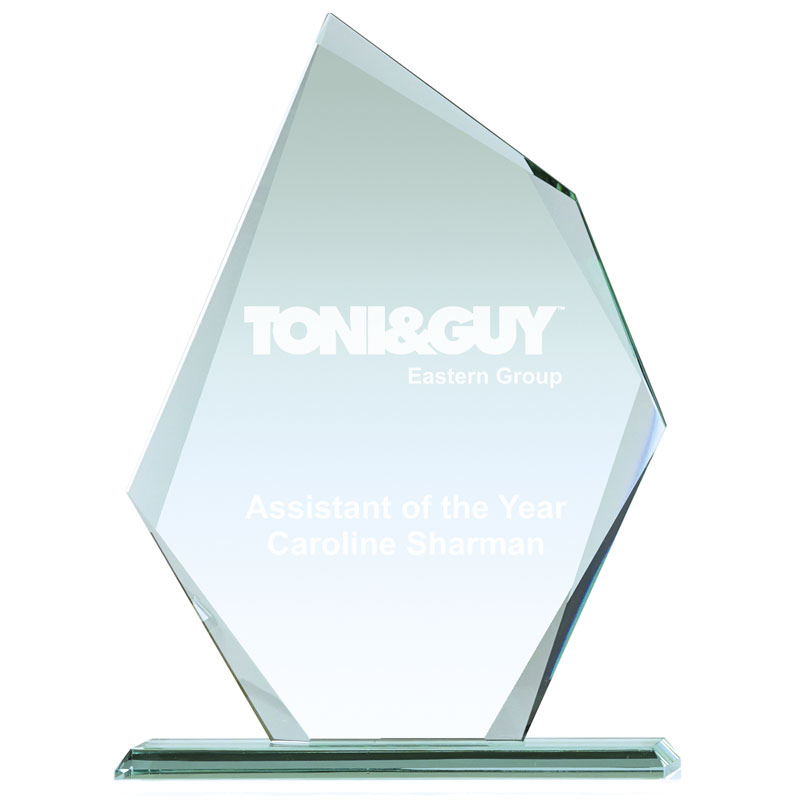 8 Inch Shard Design Paragon Jade Glass Award