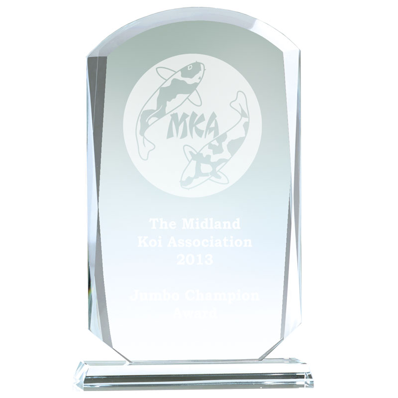 8 Inch Bevelled Edge Essence Glass Award