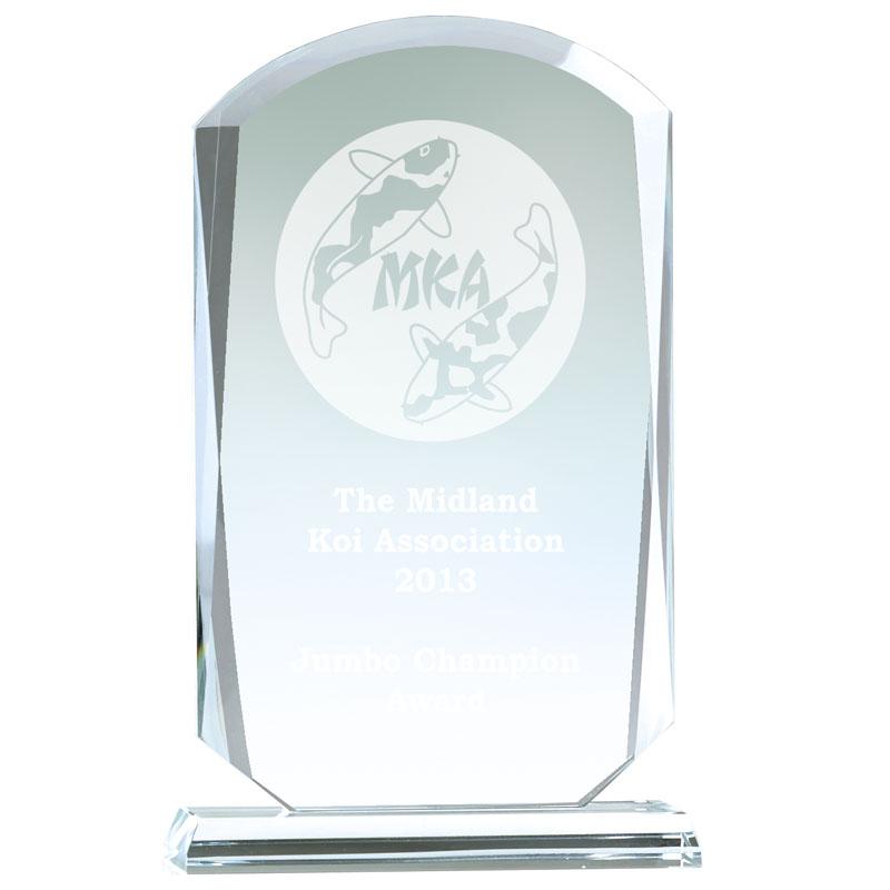 10 Inch Bevelled Edge Essence Glass Award