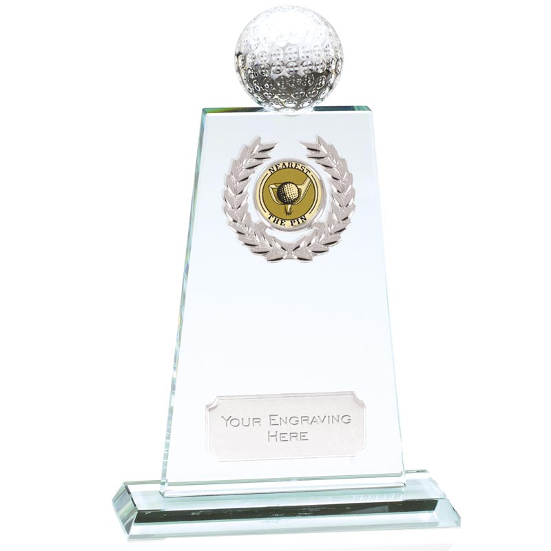 6 Inch Ball Topper Golf Cranley Jade Glass Award