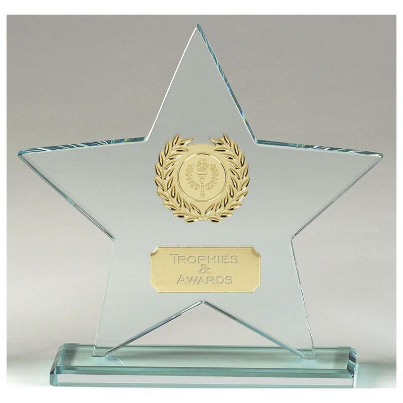 7 Inch Transparent Star Major Glass Award