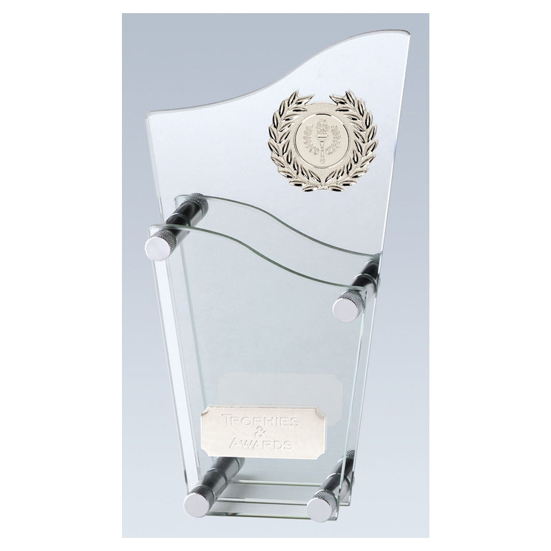9 Inch Two Tier Topmost Glass Award