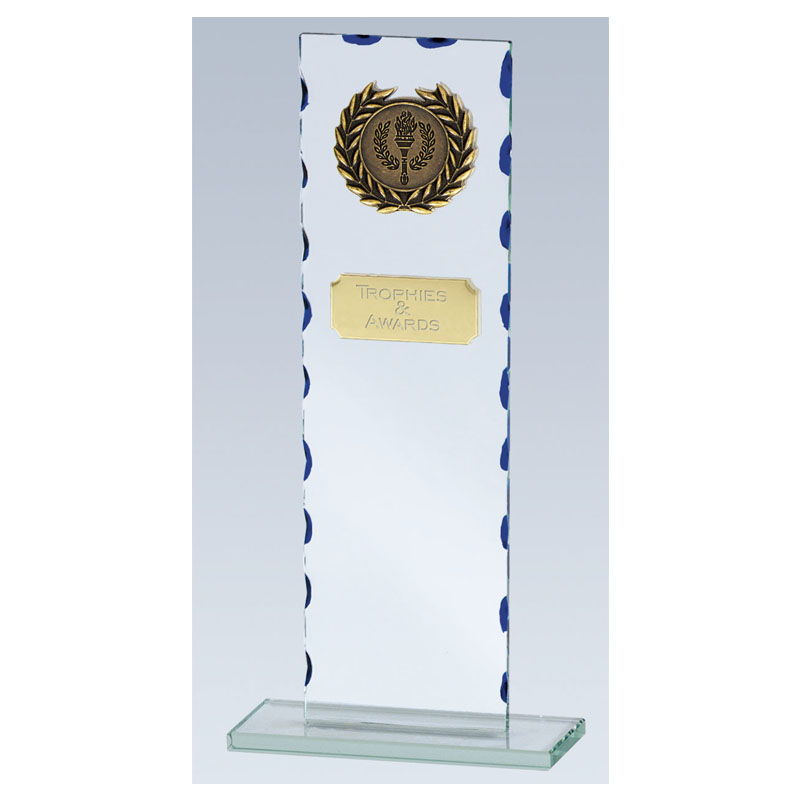 9 Inch Tall Rectangle Virtue Glass Award