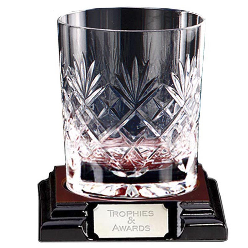 4 Inch Large Knighton Crystal Whiskey Glass