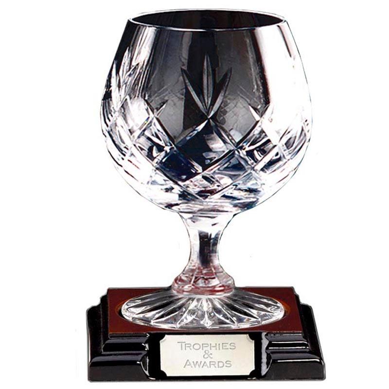 5 Inch Knighton Crystal Brandy Glass