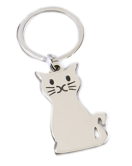 2 x 1 Inch Cat Pets Crown Keyring