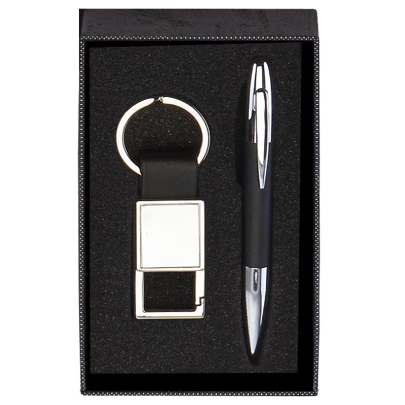Black Key Ring & Pen Scribe Gift Set