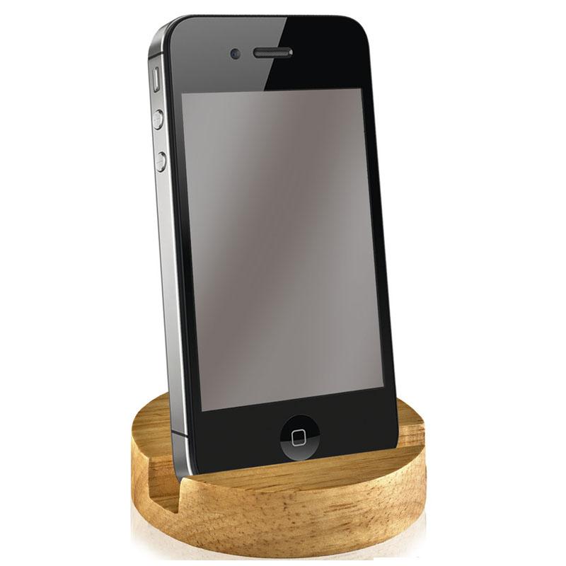Round Bamboo Crown Phone Stand