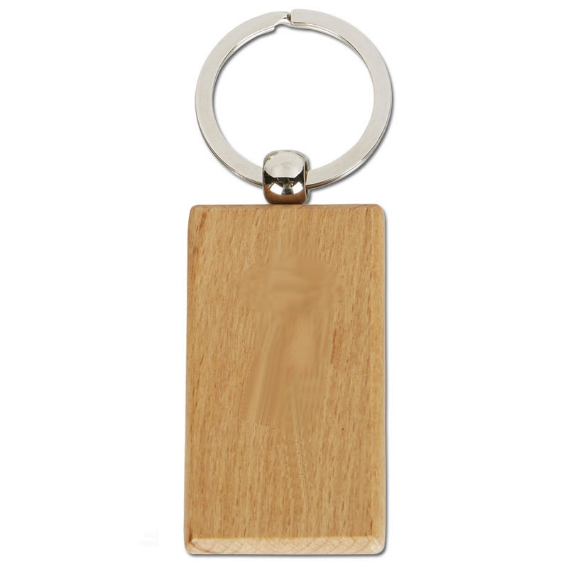Rectangular Bamboo Crown Keyring