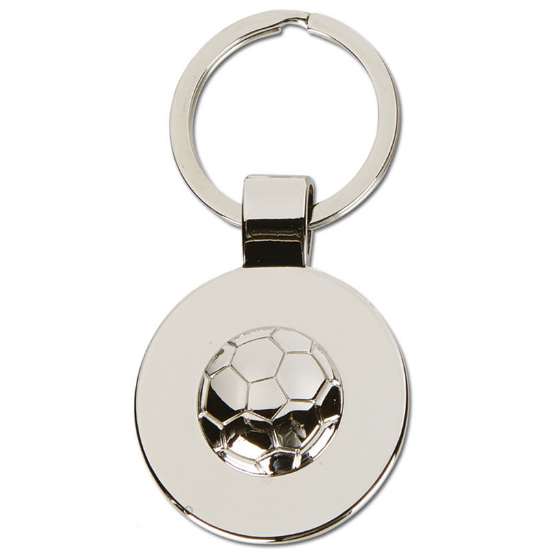 Disc with Ball Football Crown Keyring