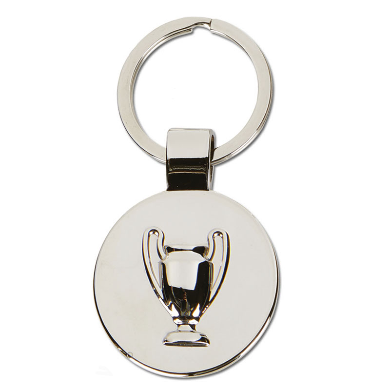 70 x 36mm Disc with Trophy Crown Keyring