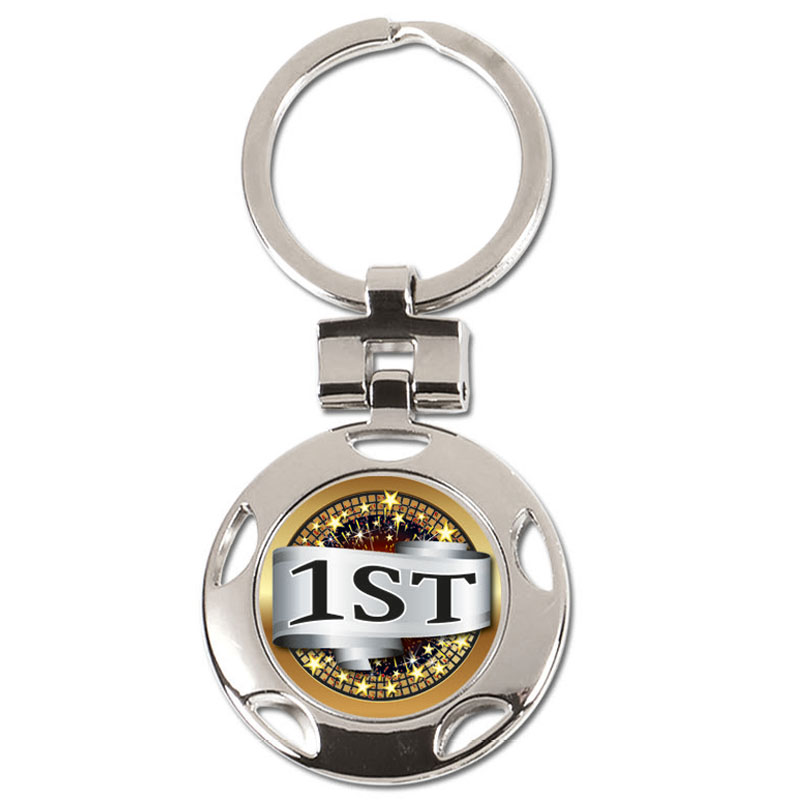 37mm 1st Place Centre Crown Keyring