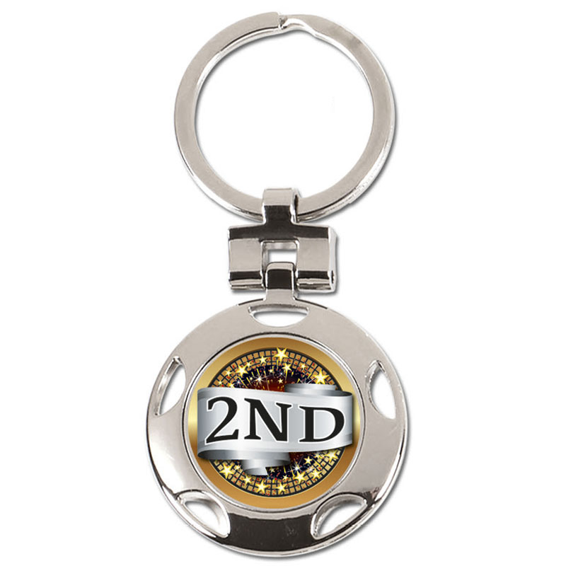 2nd Place centre Crown Keyring