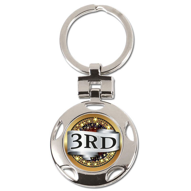 37mm 3rd Place Centre Crown Keyring