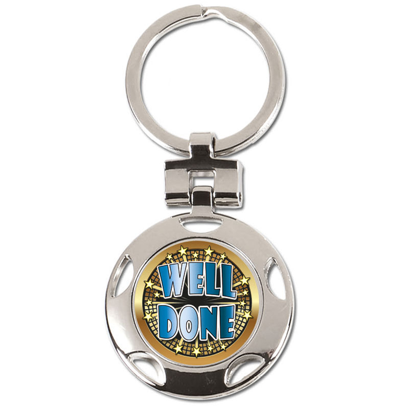 37mm Well Done Centre Crown Keyring