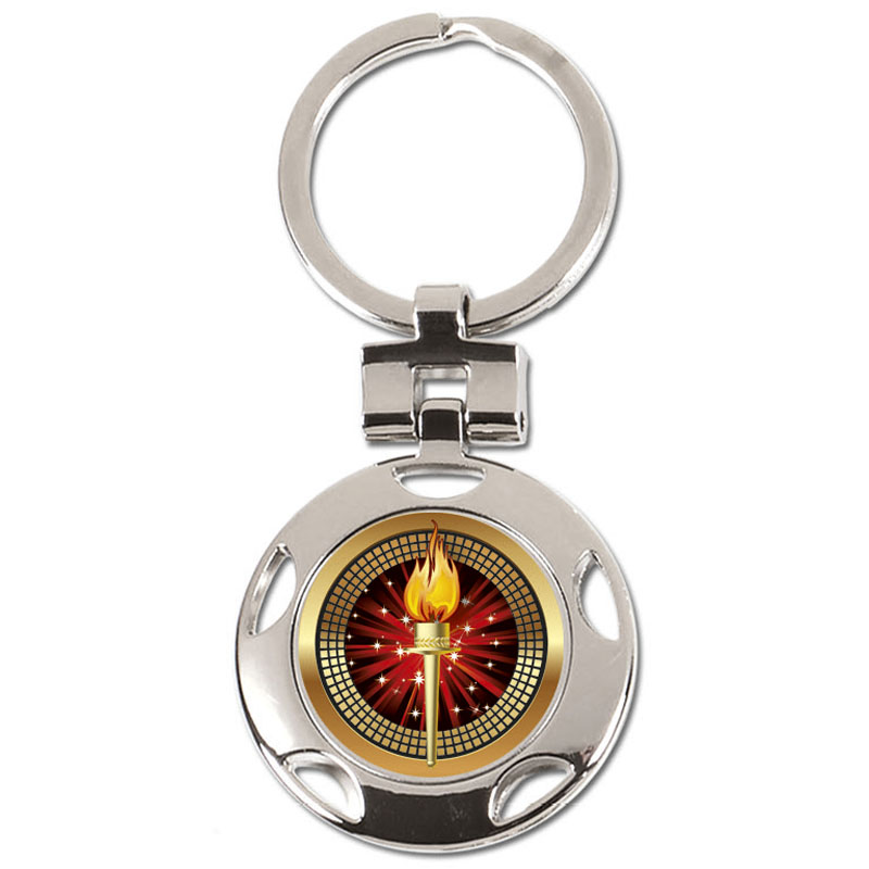 37mm Torch Centre Crown Keyring