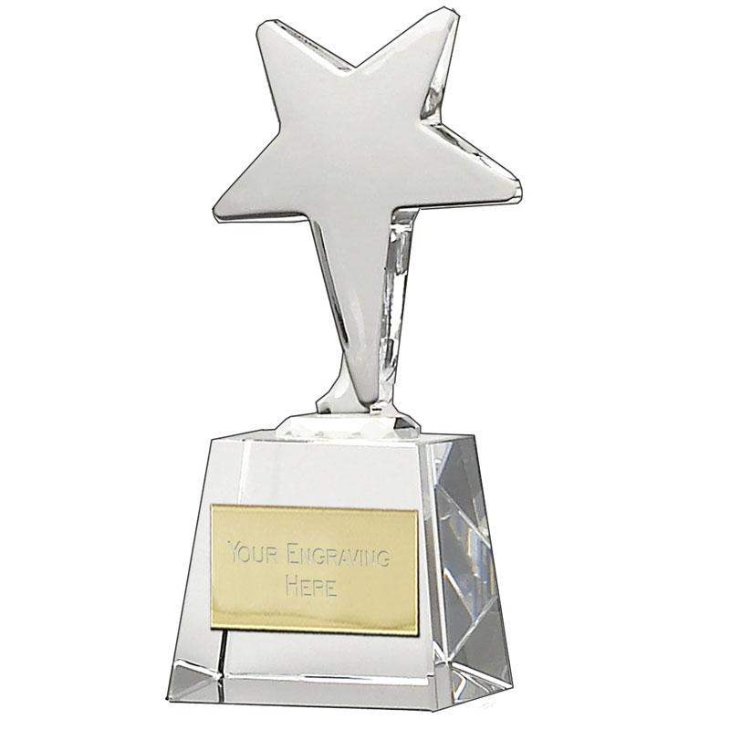 6 Inch Shooting Ice Star Crystal Award