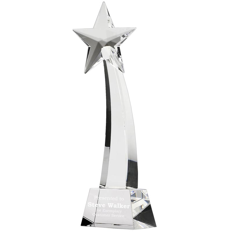8 Inch Optical Crystal Recognition Star Award