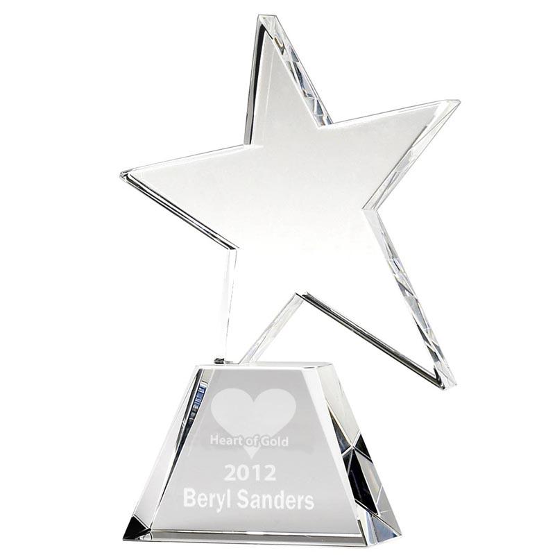 8 Inch Hope Star Optical Crystal Award