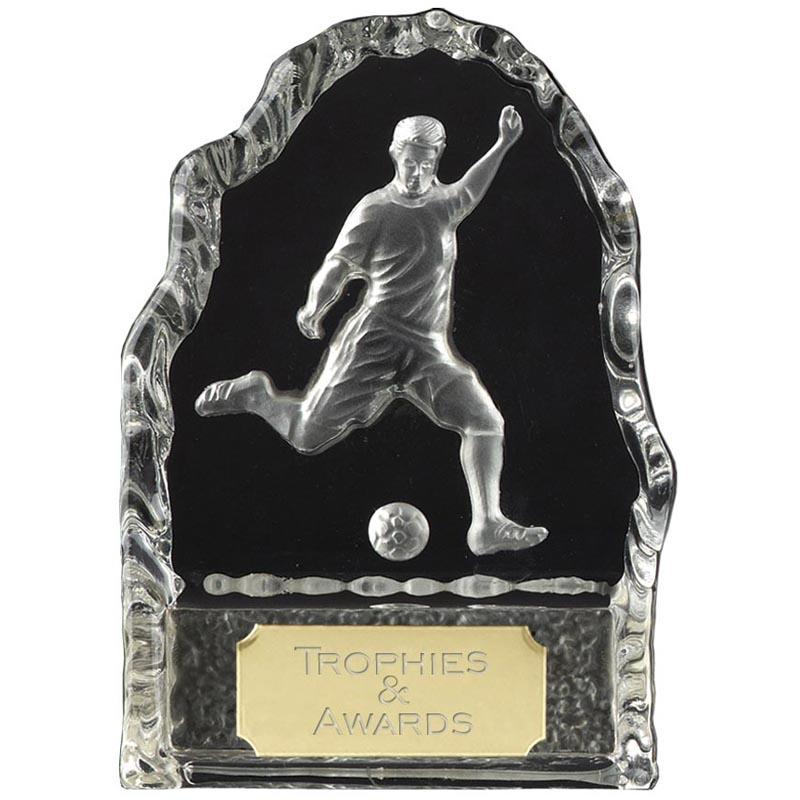 10 Inch Iceberg Kick Football Echo Crystal Award
