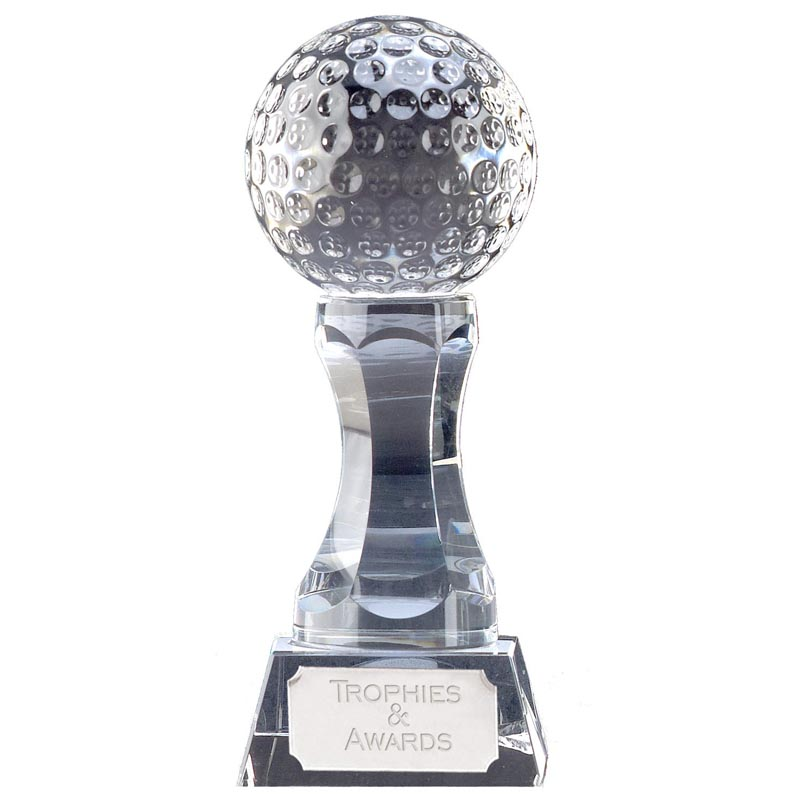 6 Inch Ball Podium Golf Ace Optical Crystal Award