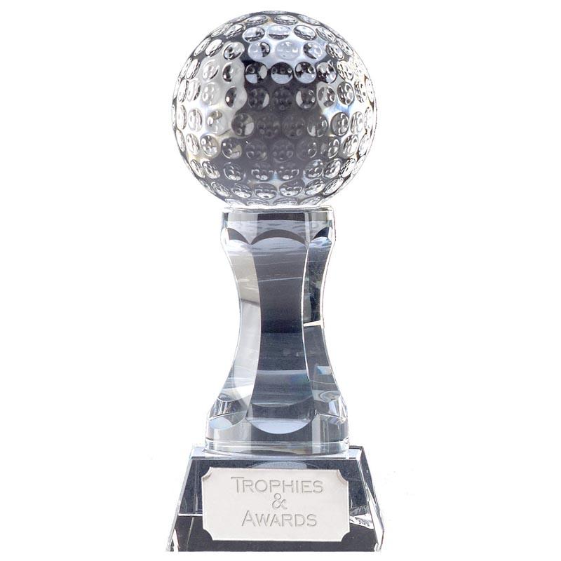 6 Inch Ball Podium Golf Ace Optical Crystal Award