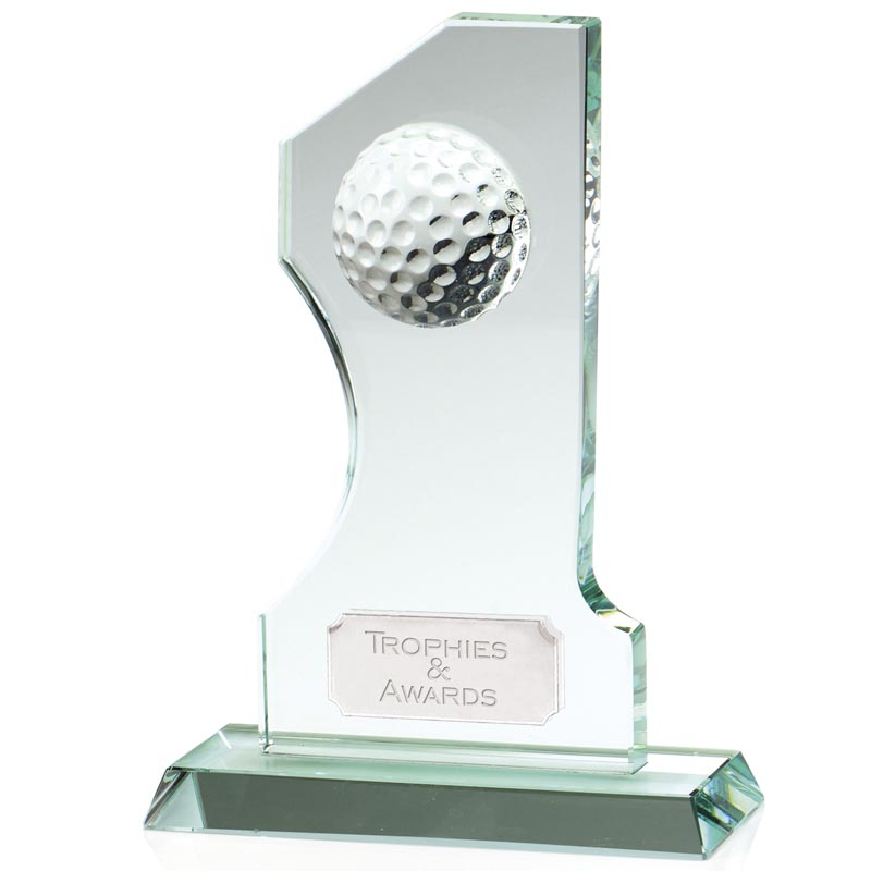 8 Inch Number One Golf Winner Jade Glass Award