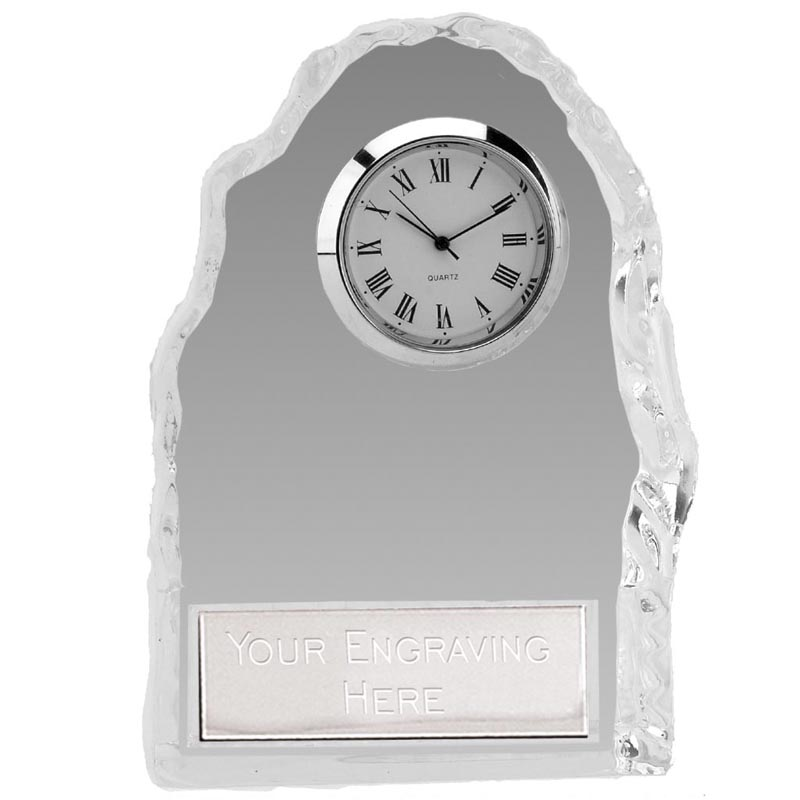 5 Inch Glass Iceberg Clock