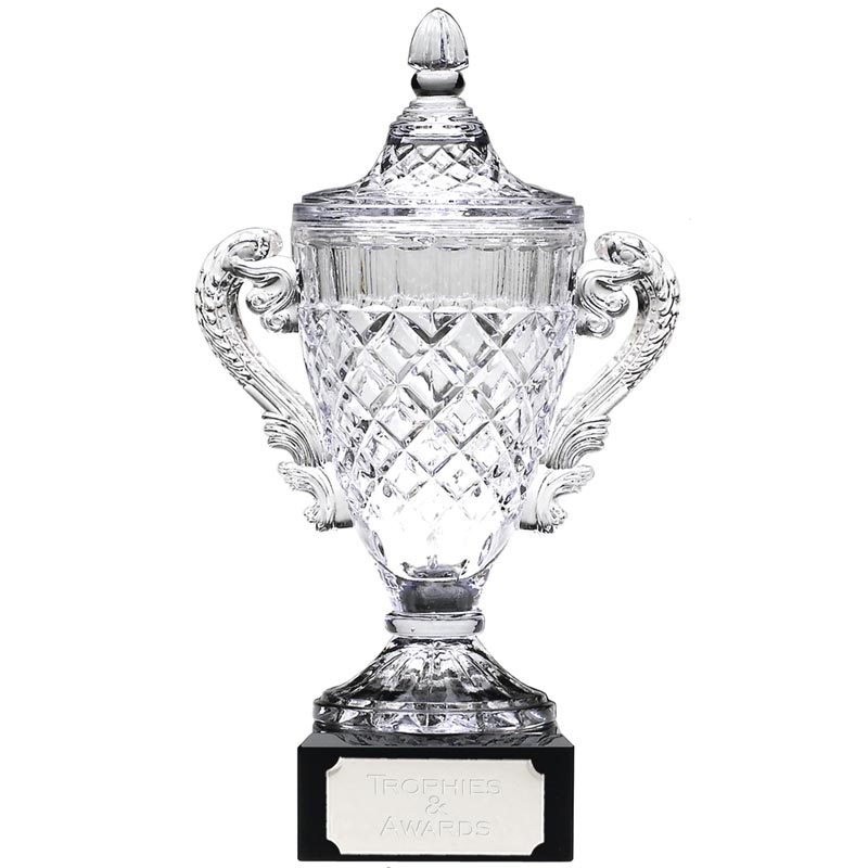 14 Inch Intricately Detailed Merit Crystal Cup